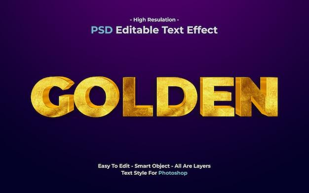 Efeito texto dourado