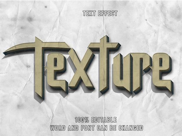 Efeito texto estilo textura fonte editável papel textura estilo vintage
