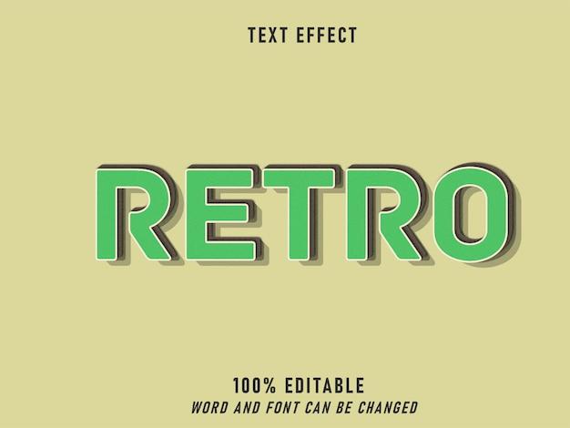 Efeito texto verde retro estilo retro estilo editável vintage