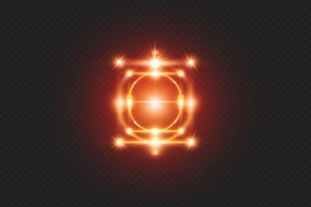 Efeitos de luz realistas brilhantes