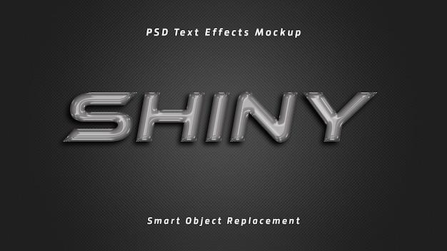 Efeitos de texto 3d brilhantes