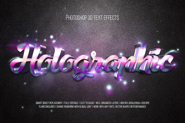 Efeitos de texto 3d - holográfico