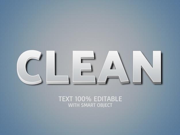 Efeitos de texto 3d limpos