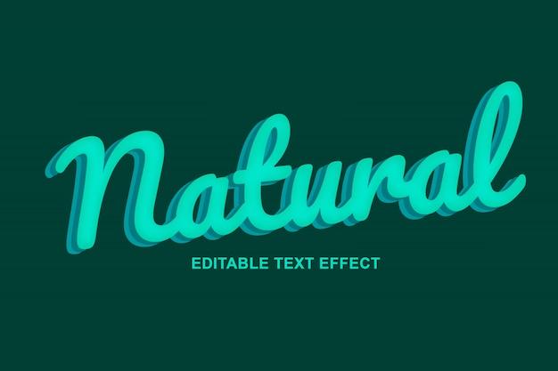 Efeitos de texto 3d naturais e verdes premium psd