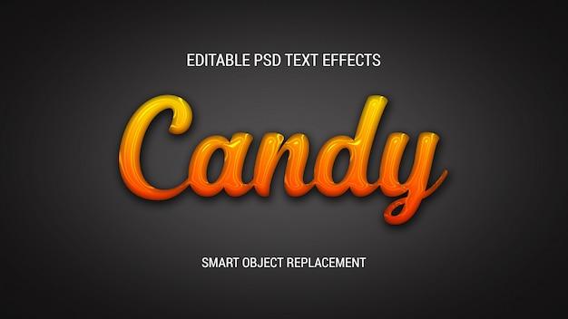 Efeitos de texto brilhante pingando
