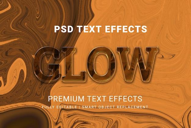 Efeitos de texto brilho isolados na madeira