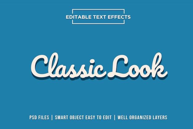 Efeitos de texto com aparência clássica