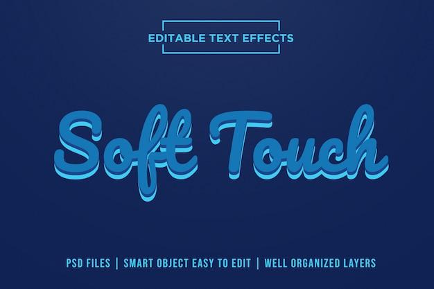 Efeitos de texto com toque suave