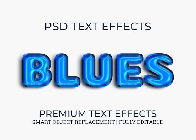 Efeitos de texto de blues