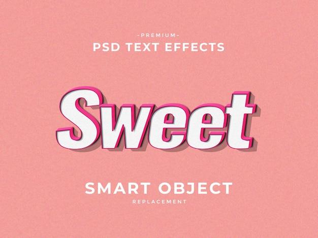 Efeitos de texto de estilo de camada de photoshop doce 3d
