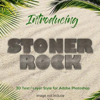 Efeitos de texto de estilo de camada de photoshop rocha 3d terra de pedra