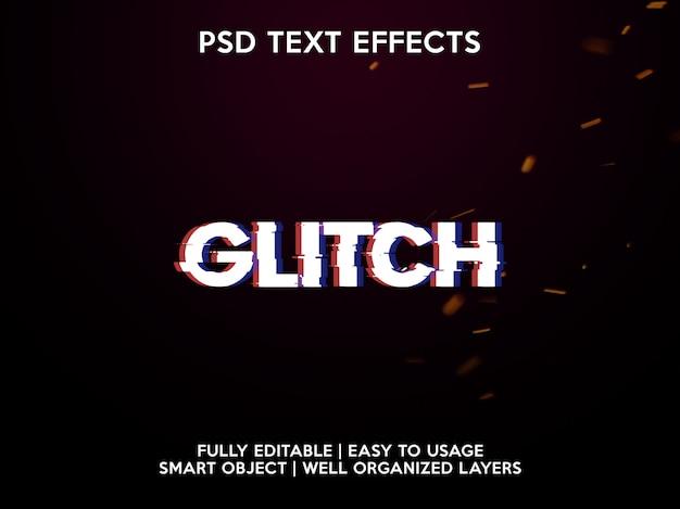 Efeitos de texto de falha