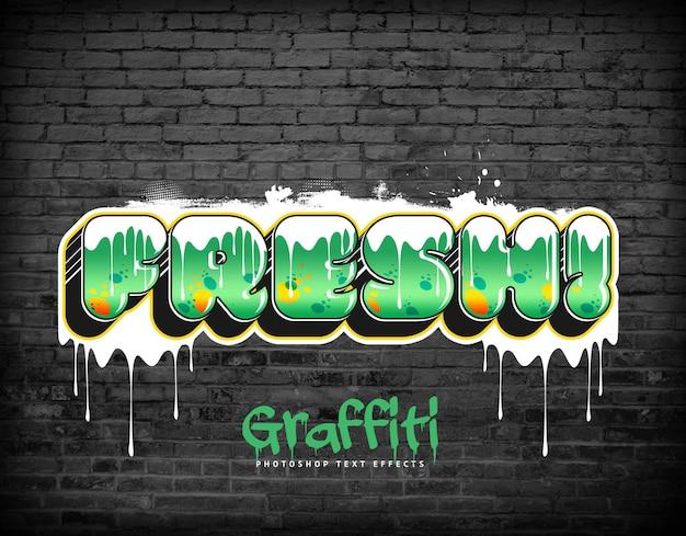 Efeitos de texto de graffiti estilo de camada psd