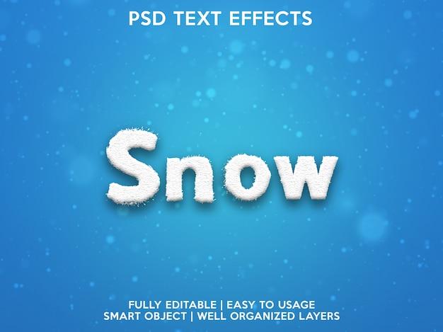 Efeitos de texto de neve
