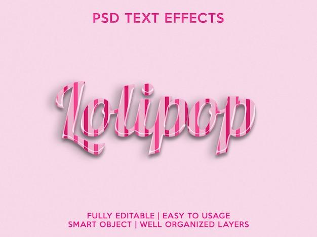 Efeitos de texto de pirulito