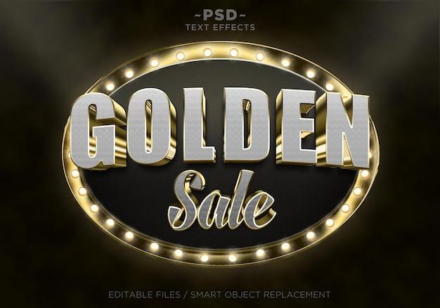 Efeitos de texto de venda dourada