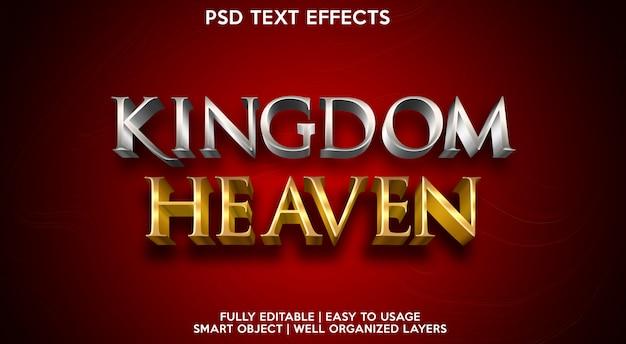 Efeitos de texto do reino dos céus