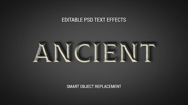 Efeitos de texto editáveis antigos