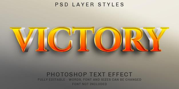Efeitos de texto editáveis de jogos criativos
