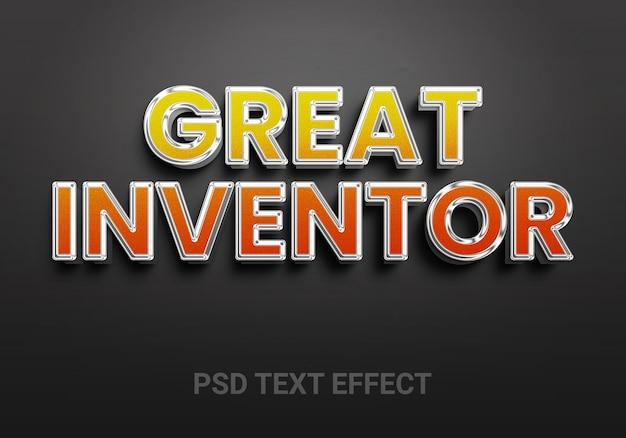 Efeitos de texto editáveis do inventor criativo