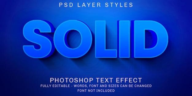 Efeitos de texto editáveis e sólidos em azul criativo