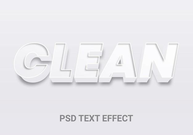 Efeitos de texto editáveis em 3d limpo e criativo