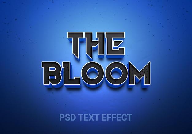 Efeitos de texto editáveis em azul profundo