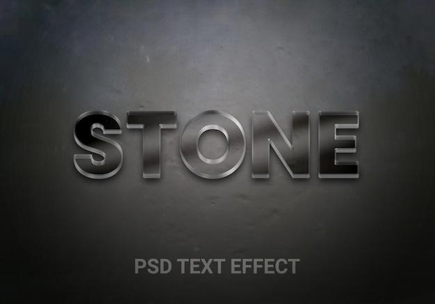 Efeitos de texto editáveis em negrito de pedra preta
