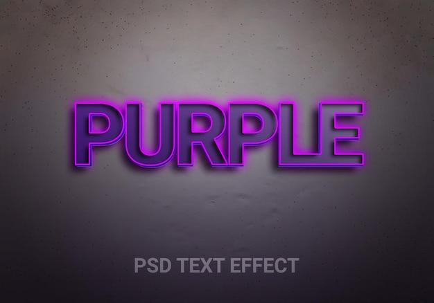 Efeitos de texto editáveis em roxo