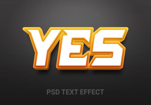 Efeitos de texto editáveis sim criativos