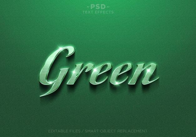 Efeitos de texto editáveis verdes
