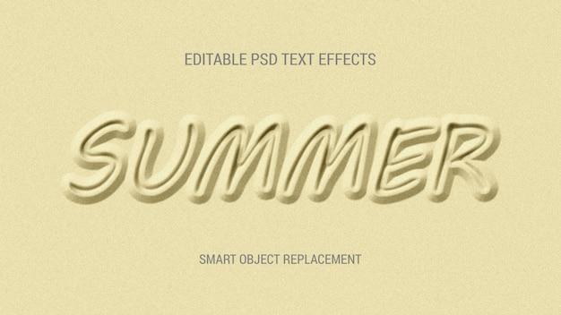 Efeitos de texto editável areia zero