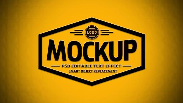 Efeitos de texto editável em 3d