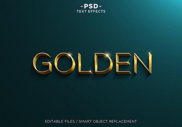Efeitos de texto editável em ouro