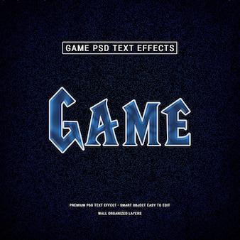 Efeitos de texto em 3d do jogo