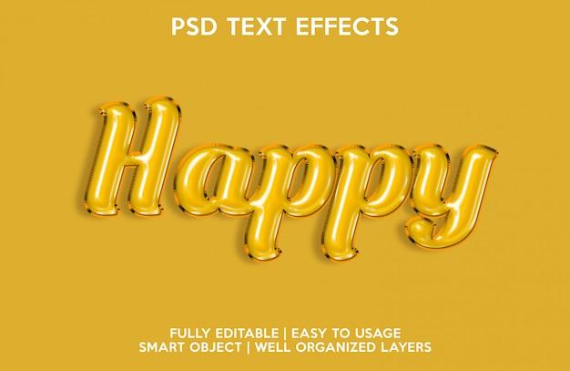 Efeitos de texto felizes