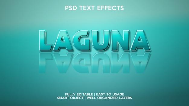 Efeitos de texto laguna