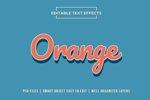 Efeitos de texto laranja