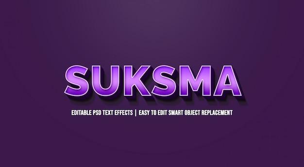 Efeitos de texto roxo modernos de suksmain