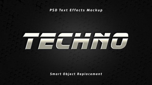 Efeitos de texto techno 3d