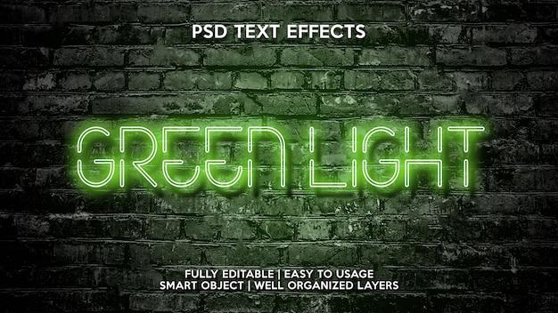 Efeitos de texto verde