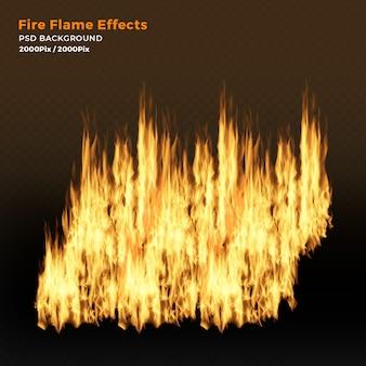 Efeitos realistas de chamas de fogo