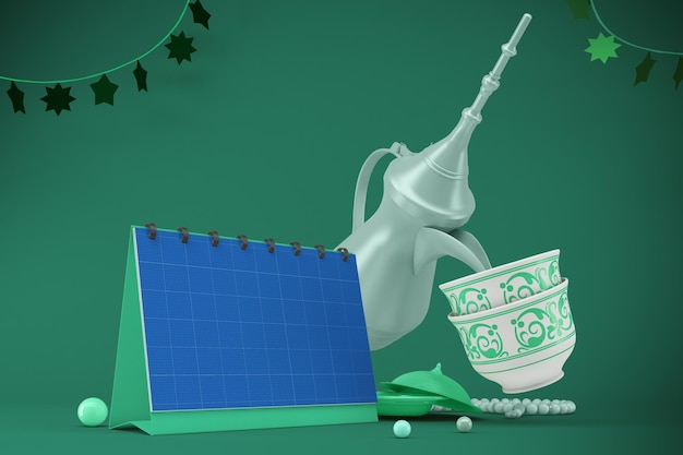 Eid calendar mockup