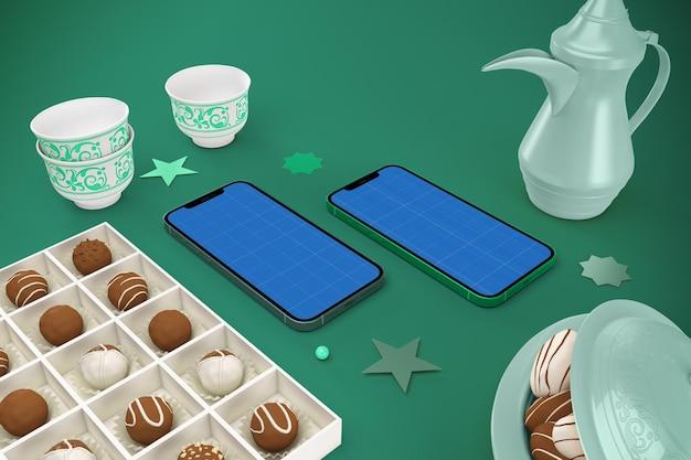 Eid smart phone mockup