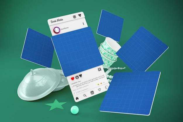 Eid social media mockup