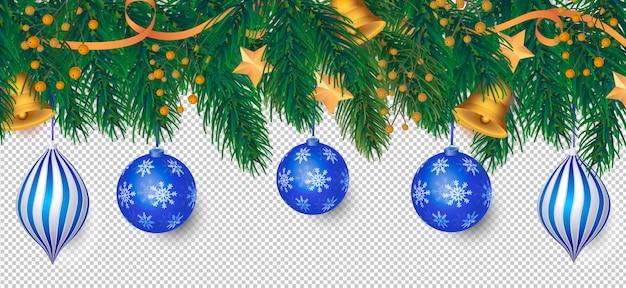 Elegante fundo de natal com decoração azul