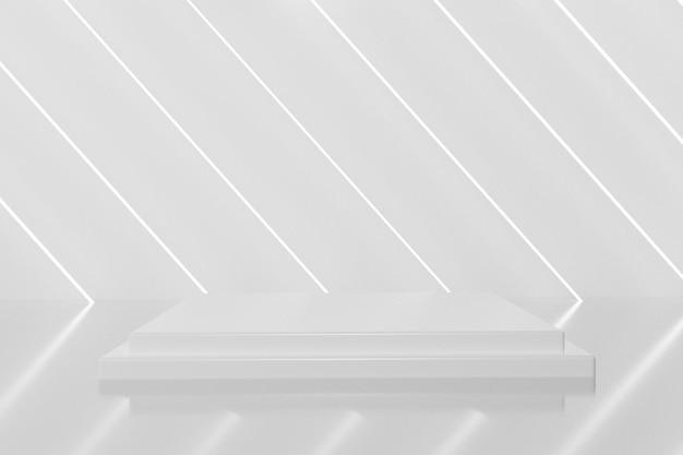 Elegante pódio branco