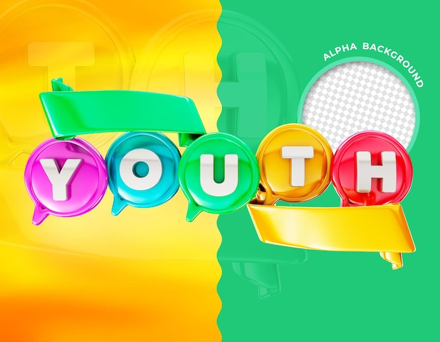 Elegante renderização 3d do dia da juventude