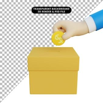Eleições de ilustração 3d