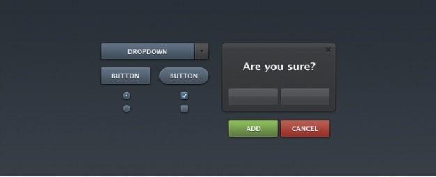 Elementos de interface para formulários
